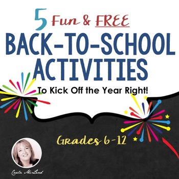 Back to School Activities: 5 Fun and FREE Activities for Secondary Students