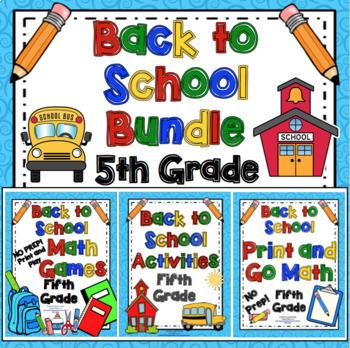 Back to School Activities - 5th Grade