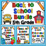 Back to School Activities: 5th Grade Bundle