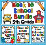 Back to School: 5th Grade Back to School Activities Bundle