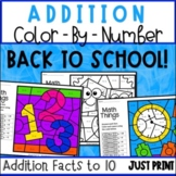 Addition Worksheets - Color by Number
