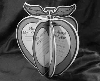 Back to School Activities: All About Me Apples Craft Activity Kindergarten/1st