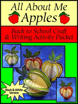 Back to School Activities: All About Me Apples Fall Craft
