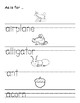 Back to School Activities Alphabet Book Worksheets