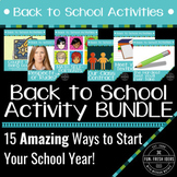 Back to School Activities BUNDLE - Awesome, Fun Ways to Start the School Year