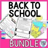 Back to School Activities BUNDLE: Escape Room, Growth Mind