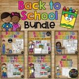Back to School Activities BUNDLE Games, Bingo, No Prep Worksheets, Glyph & More