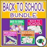 First Week Back to School activities and games