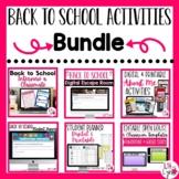 Back to School Activities Bundle | Digital & Printable | D