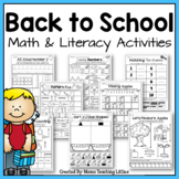 Back to School Activities Bundle - Math and Literacy