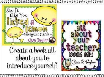 Back to School Activities Bundle ~ The Happy Teacher!