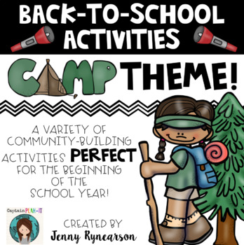 Back-to-School Activities! Camping Theme! Printer-Friendly and FUN!!!