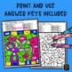 Subitizing Worksheets - Kindergarten, 1st, 2nd Grades Color by Number