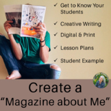 Back to School Activities Creative Writing Magazine about Me