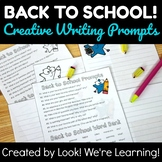 Back to School Activities: Creative Writing Prompts