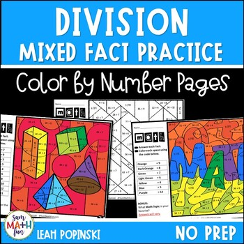 Division Worksheets - Color by Number