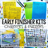 Back to School Early Finisher Activities | Math Enrichment September