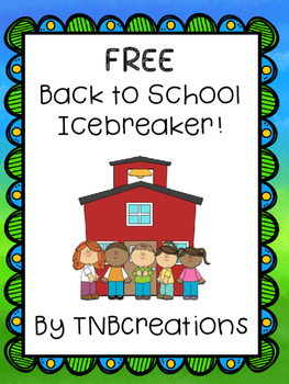 Back to School FREE Icebreaker