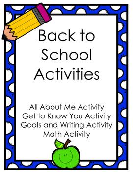Back to School Activities FREEBIE