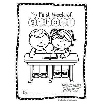 Back to School Activities - First Day of School