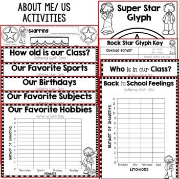 Back to School Activities/ First Days of School: School Super Stars!