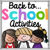 Back to School Activities - First Week's Lesson Plans