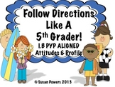 IB Activities Follow Directions like a Fifth Grader