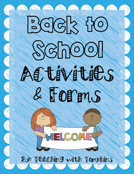 Back to School Activities & Forms Pack