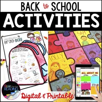 Back to School Activities, First Day of School Activities, Icebreakers