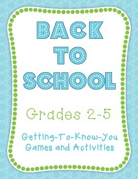 Back to School Activities, Games, and Icebreakers for Grades 2-5