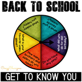 Back to School Activities - Get to know you questions EDITABLE