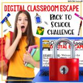 Back to School Activities Google Classroom Digital Escape Room