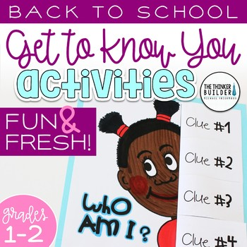 "Back to School Activities (Grades 1-2) ""Get to Know You"" First Week of School"