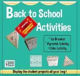 Back to School Activities - Grades 3-6