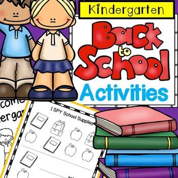 First Week of School No Prep Activities for Kindergarten