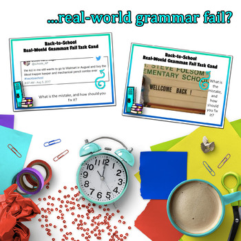 Back-to-School Activities, Grammar Fails in the Real World