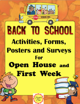 Back to School Printables, Activities, Lessons, Forms, Surveys, and Posters