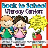 Back to School Activities (Literacy)