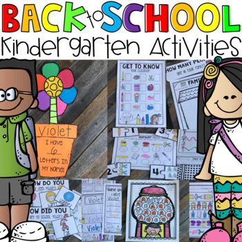 Back to School Math and Literacy Centers and Activities for Kindergarten