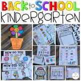 Back to School Activities Kindergarten Printables, Literacy and Math