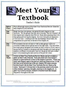 Back to School Activities - Meet Your Textbook