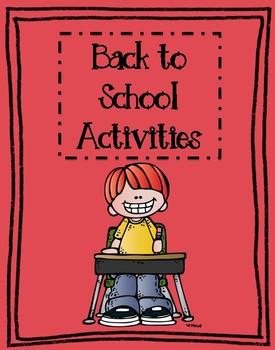 Back to School Activities **Melonheadz**