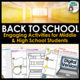 Digital Back to School Activities - Get to Know Your Students