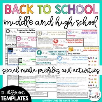 Back to School Activities Middle School High School Students