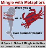 Back to School Six Activities: Mingle with Metaphors