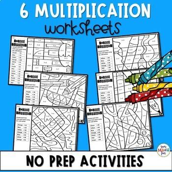 Multiplication Worksheets - Color by Number