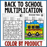 BACK TO SCHOOL ACTIVITIES Multiplication Color by Number F