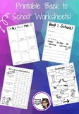 Back to School Activities - NO PREP, PRINT AND GO!