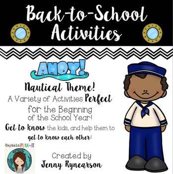 Back-to-School Activities! ~Nautical Theme~ LOTS of Super FUN Pages!