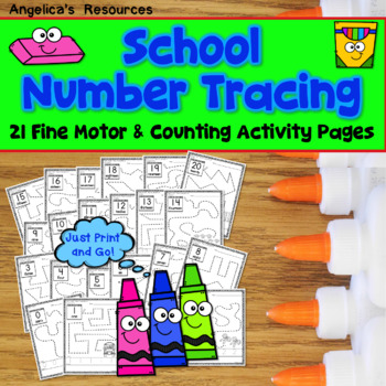 Back to School Activities : Number Sense - Fine Motor Printables -Number Tracing
